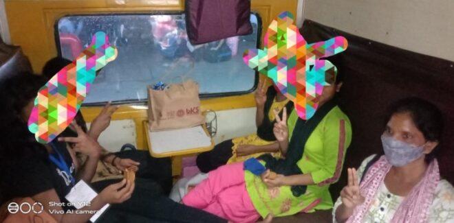 मानव तस्करी की शिकार झारखंड की दो युवतियों एवं 8 बच्चों को दिल्ली से कराया मुक्त