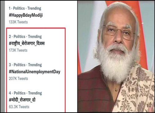 प्रधानमंत्री नरेंद्र मोदी के जन्मदिन पर क्यों ट्रेंड हुआ राष्ट्रीय बेरोजगारी दिवस